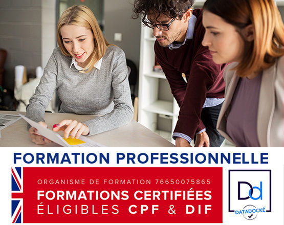 Datadock, formation professionnelle, anglais
